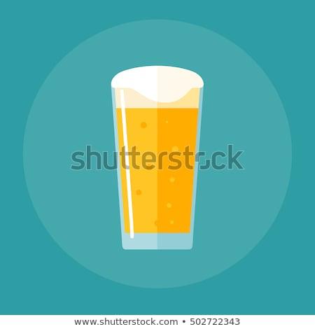 пива шейкер пинта стекла пусто Сток-фото © albund