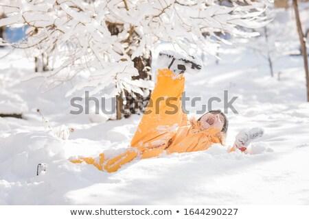 The child fell into the snow and screams Stock photo © ElenaBatkova