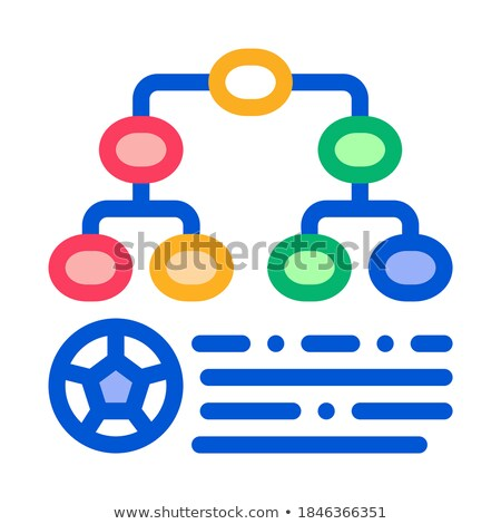 Soccer Game League Table Icon Outline Illustration Stock photo © pikepicture