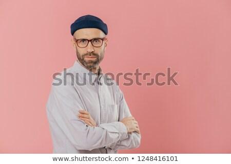 男性 成人 手 オプティカル 眼鏡 白 ストックフォト © vkstudio