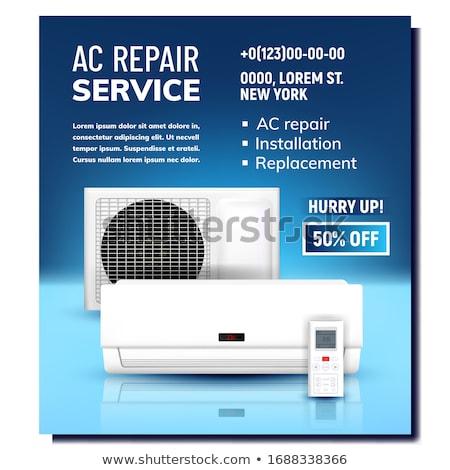 Acondicionador de aire reparación servicio promoción anunciante vector Foto stock © pikepicture