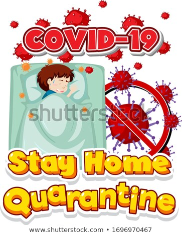 Betűtípus terv szó tartózkodás otthon beteg Stock fotó © bluering