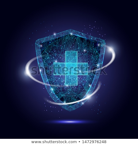 medical protection shield with cross sign healthcare background Stock photo © SArts