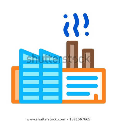 discharge of station harmful substances into air icon vector outline illustration Stock photo © pikepicture