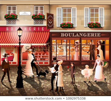 Сток-фото: парижский · архитектура · исторический · зданий · ресторанов · бутик