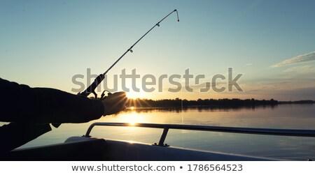 Kobieta połowów wędka wygaśnięcia wody ryb Zdjęcia stock © cookelma