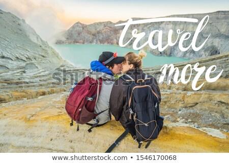 Seyahat daha fazla genç turist adam kadın Stok fotoğraf © galitskaya