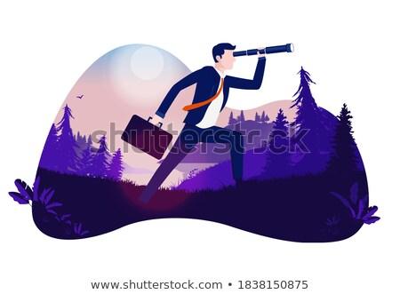 Ambitieus business plannen vector metafoor doelen Stockfoto © RAStudio