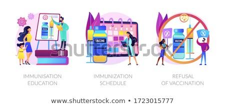 Implementação abstrato vetor conjunto saúde Foto stock © RAStudio