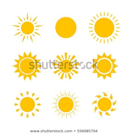 Zon zoom stralen ingesteld drie Stockfoto © SArts