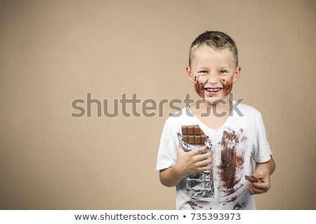 pequeno · menino · doce · criança · doces · pop - foto stock © meshaq2000