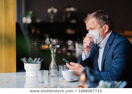 Elegante empresário médico máscara epidemia situação Foto stock © vkstudio