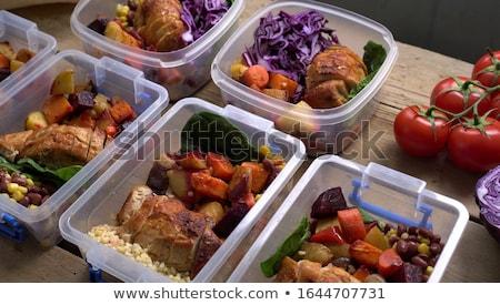 lunch · ui · mes · voedsel · werk - stockfoto © vladacanon