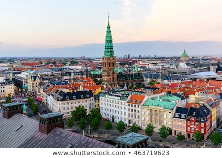Torre igreja Copenhague Dinamarca ver edifício Foto stock © boggy