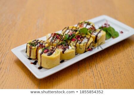 Topo ver diferente decorado sanduíches aperitivo Foto stock © dash