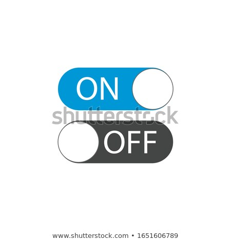 UI Toggle Switch On and Off position Button. Vector Illustration Stock Vector illustration isolated  Stock photo © kyryloff