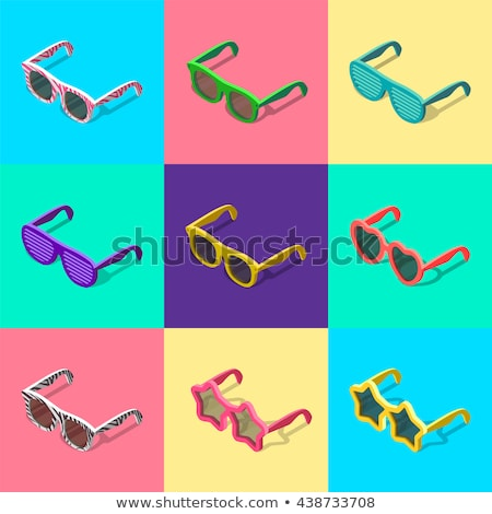 Sun Protected Man isometric icon vector illustration Stock photo © pikepicture