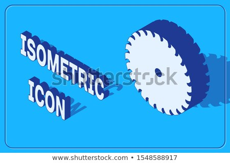 Machine Wheel Blade isometric icon vector illustration Stock photo © pikepicture