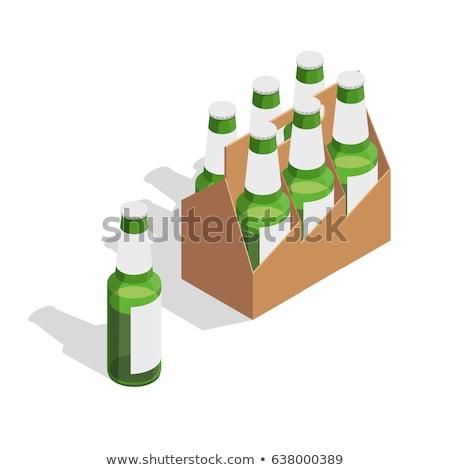 пива пить бутылку изометрический икона вектора Сток-фото © pikepicture