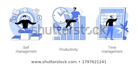 Planung Vektor Metapher Ziele Zeitplan Timing Stock foto © RAStudio