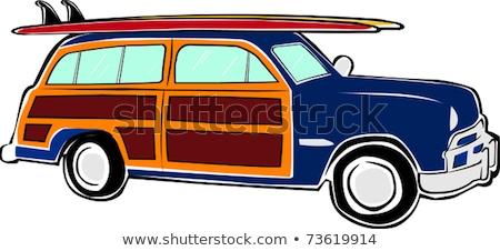Vector retro woody van Stock photo © mechanik