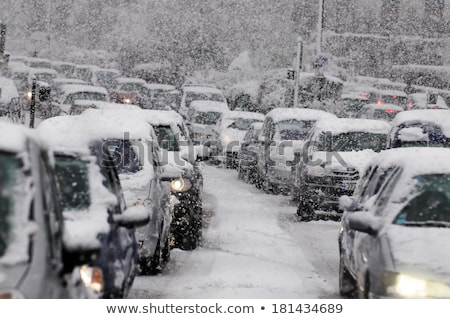 Highway traffic in a snow storm Stock photo © duoduo