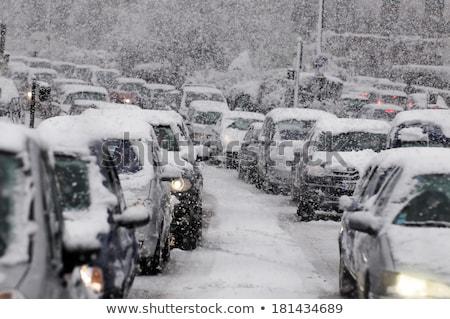Karayolu trafik yoksul görünürlük kamyon Stok fotoğraf © duoduo