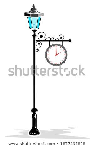 Wrought decoration - clock Stock photo © fotografci
