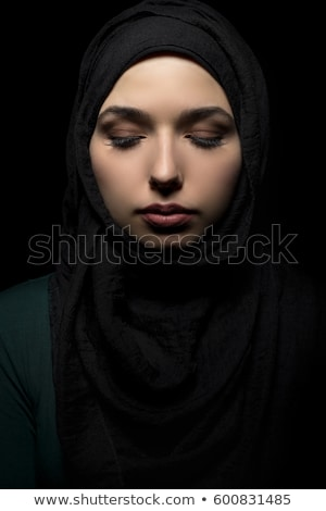 美しい ヨーロッパの ムスリム 女性 幸せ ペン ストックフォト © zurijeta