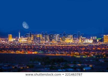 ufuk · çizgisi · Las · Vegas · arka · plan · seyahat · siyah · siluet - stok fotoğraf © rabbit75_sto