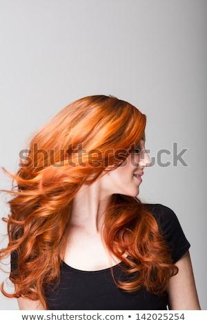 młodych · kobieta · gry · włosy · biały - zdjęcia stock © Rob_Stark