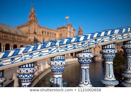Detail of Plaza De Espana in Seville Stock photo © aladin66