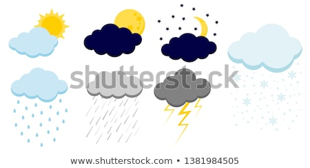 Cartoon Sun And Cloud Stock photo © adamson