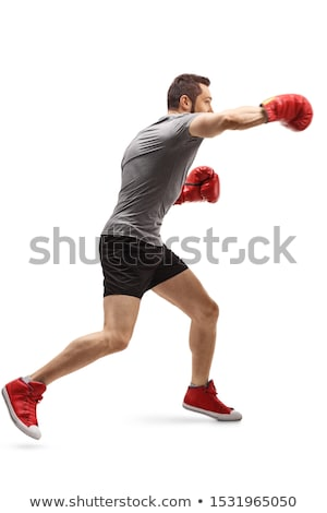 homem · negro · boxeador · preto · africano · americano · homem - foto stock © curaphotography