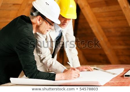 Stock photo: mature building surveyor