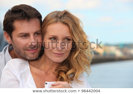 Couple stood on promenade Stock photo © photography33