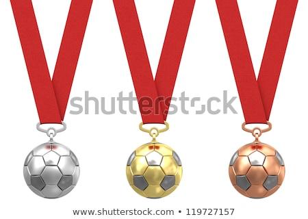 Сток-фото: золото · серебро · бронзовый · Футбол · зеленый