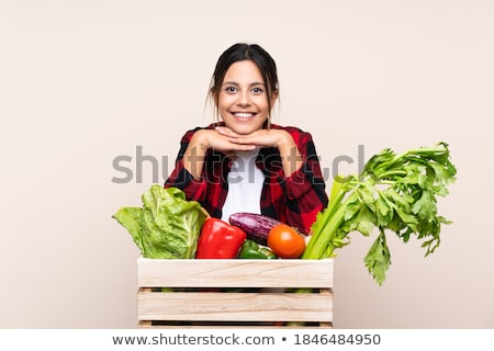 mulher · maçã · comida · preto · vida - foto stock © photography33