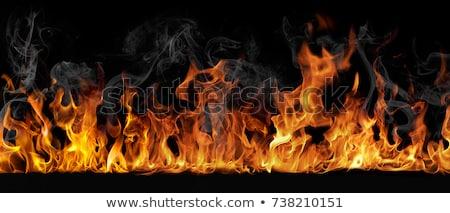 Ognisty płomień czarny palenie streszczenie ilustracja Zdjęcia stock © Artida