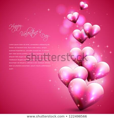 romantische · hart · kaars · Valentijn · chocolade · chip - stockfoto © pinkblue