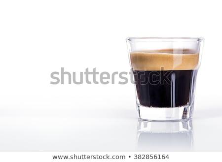 Café expresso copo italiano grãos de café em torno de Foto stock © bugstomper