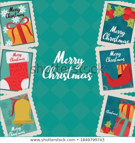 christmas postage stamp Stock photo © sirylok