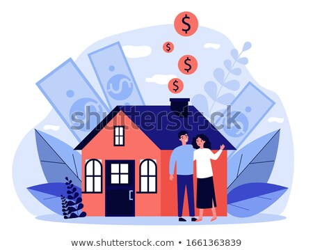 Dollar huis business portret cash voorraad Stockfoto © Paha_L