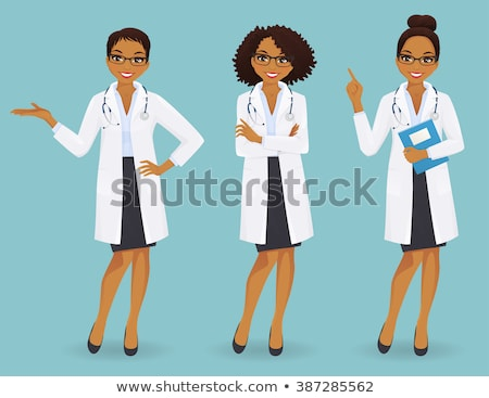 cute female doctor in a hospital with arms crossed. Stock photo © Nobilior