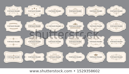 berg · badges · ingesteld · avontuur · expeditie · brand - stockfoto © mikemcd