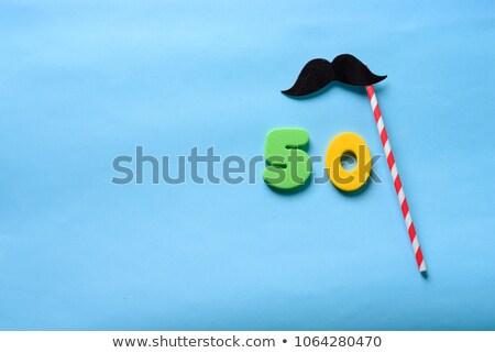 50 anni uomo spazio simbolo abstract etichetta Foto d'archivio © Kaludov