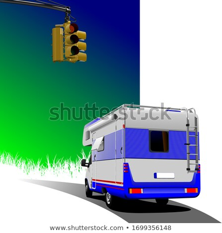 été · vacances · route · illustration · cartoon · printemps - photo stock © leonido