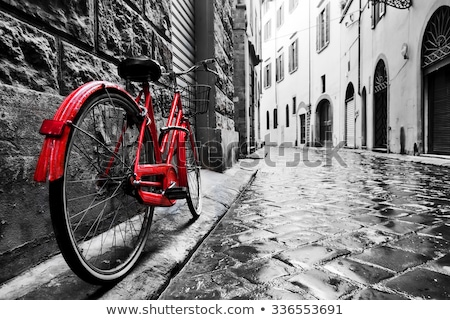vintage bicycle in black and white stock photo © julietphotography