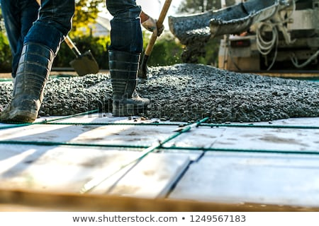 Pouring cement foundations Stock photo © photography33