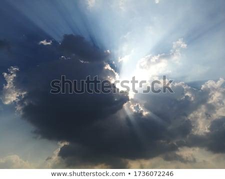 luz · solar · escuro · nuvens · sol · natureza · tempestade - foto stock © mobi68